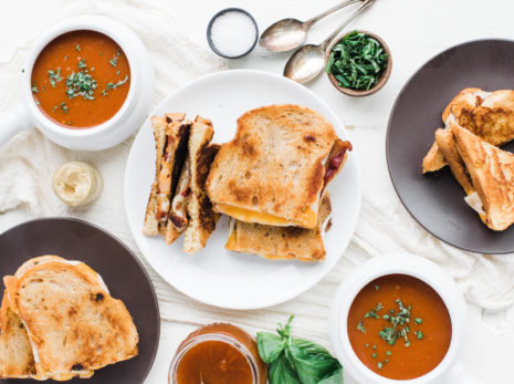 dutch farms 187 gourmet grilled cheese with tomato soup